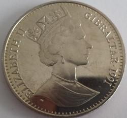 Moneta > 1corona, 1991 - Gibilterra  (10° anniversario - Matrimonio del principe Carlo e Lady Diana/Principe Carlo/) - obverse