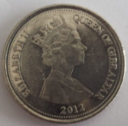 Coin > 10pence, 2012 - Gibraltar  - reverse