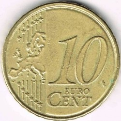 Monēta > 10centu, 2009-2013 - Beļģija  - obverse