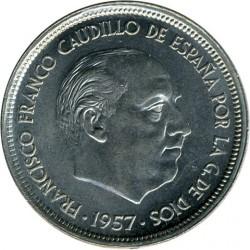 Moneda > 50pesetas, 1957 - España  - obverse