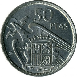 Moneda > 50pesetas, 1957 - España  - reverse
