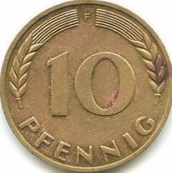 Coin > 10 pfennig, 1972 - Germany  - reverse
