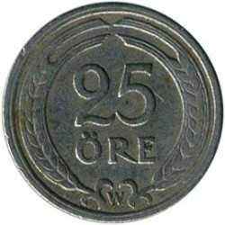 Coin > 25 ore, 1921 - Sweden  - obverse