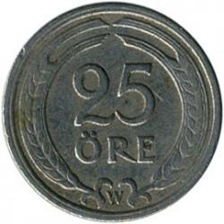 Coin > 25ore, 1921 - Sweden  - reverse