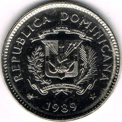 Minca > 10centavos, 1989-1991 - Dominikánska republika  - obverse
