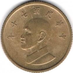 Moneda > 1dólar, 1981-2019 - Taiwán  - obverse