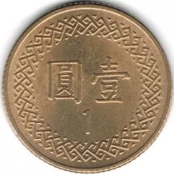 Moneda > 1dólar, 1981-2019 - Taiwán  - reverse