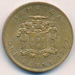 1 penny 1964-1967, Jamaica - Coin value - uCoin net