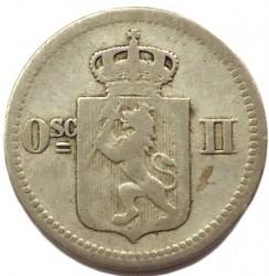 Coin > 10ore, 1874-1875 - Norway  - obverse