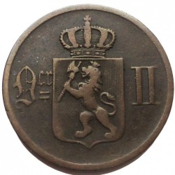 Coin > 2 ore, 1876-1902 - Norway  - obverse