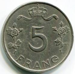 錢幣 > 5法郎, 1949 - 盧森堡  - reverse