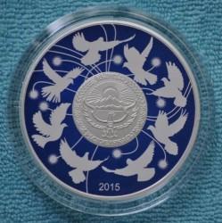 Moneda > 10som, 2015 - Kirguistán  (70 aniversario - Victoria en la Gran Guerra Patriòtica) - obverse