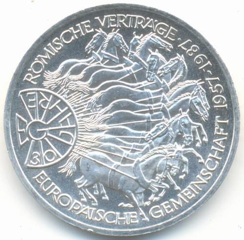 10 Mark 1987 Vertrag Von Rom Deutschland Münzen Wert Ucoinnet