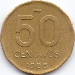 Mynt > 50centavos, 1986 - Argentina  - reverse