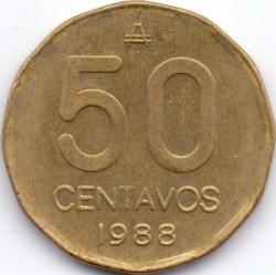 Монета > 50сентаво, 1985-1988 - Аргентина  - reverse
