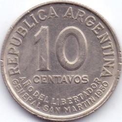 硬币  /> 10分, 1950 - 阿根廷 - reverse