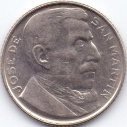 Pièce > 20centavos, 1950 - Argentine  (Cuivre-Nickel / couleur grise /) - obverse