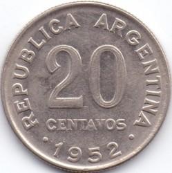 Νόμισμα > 20Σεντάβος, 1951-1952 - Αργεντινή  - obverse