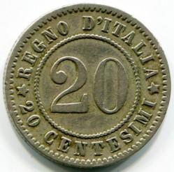 Moneta > 20čentezimų, 1894-1895 - Italija  - reverse