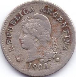 Moneda > 10centavos, 1908 - Argentina  - obverse