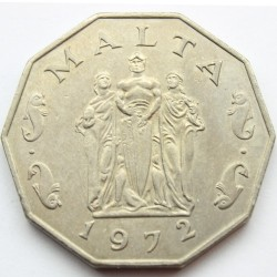 Moneta > 50centów, 1972-1981 - Malta  - reverse