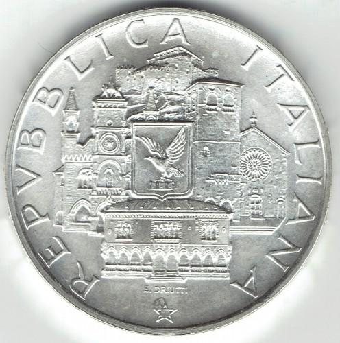 500 Lires 1985 Collège Mondial De Ladriatique Italie Valeur