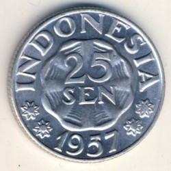 Монета > 25сенів, 1955-1957 - Індонезія  - reverse
