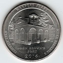 Moneda > ¼dollar, 2016 - Estats Units  (Parc Històric Nacional de Harpers Ferry ) - reverse