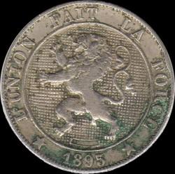 "Moneda > 5centimes, 1894-1901 - Bèlgica  (Llegenda en francès -  ""DES BELGES"") - obverse"