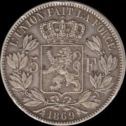 Minca > 5francs, 1865-1876 - Belgicko  - reverse