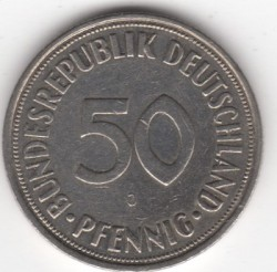 Coin > 50 pfennig, 1950 - Germany  - obverse
