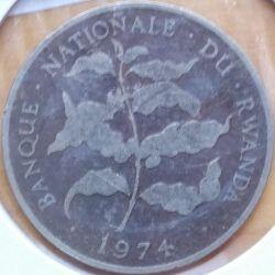Moneda > 10francos, 1974 - Rwanda  - reverse