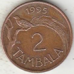 Монета > 2тамбалы, 1995 - Малави  (Сталь с медным покрытием /магнетик/) - obverse