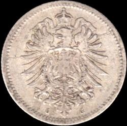 Монета > 20пфеннигов, 1873-1877 - Германия  - obverse