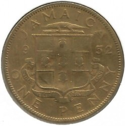 Coin > 1 penny, 1950-1952 - Jamaica  - reverse