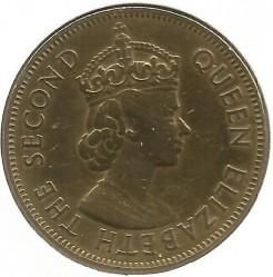 Moneta > 1penny, 1953-1963 - Giamaica  - obverse