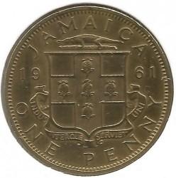Moneta > 1penny, 1953-1963 - Giamaica  - reverse