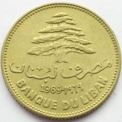 Moneta > 25piastrów, 1968-1980 - Liban  - obverse