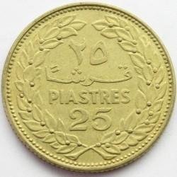 Moneta > 25piastrów, 1968-1980 - Liban  - reverse