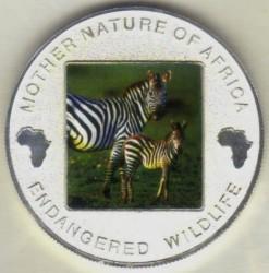 Moneta > 10kwacha, 2004 - Malawi  (Ochrona przyrody - Zebra) - reverse