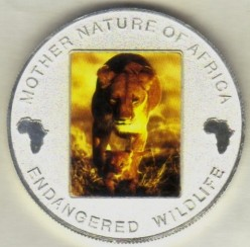 Moneta > 10kwacha, 2004 - Malawi  (Zagrożone gatunki - Lew) - obverse