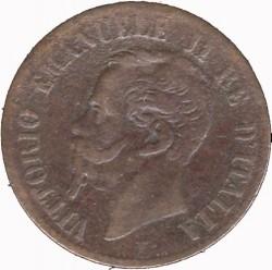 Монета > 1чентезимо, 1861-1867 - Італія  - obverse