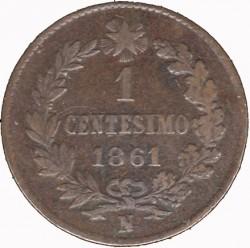 Монета > 1чентезимо, 1861-1867 - Італія  - reverse