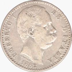 Moneta > 2liros, 1881-1899 - Italija  - obverse