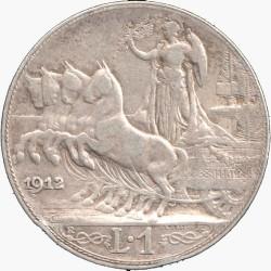 Moneta > 1lir, 1908-1913 - Włochy  - reverse