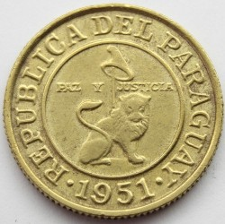 Coin > 50céntimos, 1944-1951 - Paraguay  - reverse