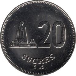 Monedă > 20sucre, 1988-1991 - Ecuador  - reverse
