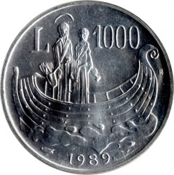 العملة > 1000 ليرة, 1989 - سان مارينو  (Sixteen Centuries of History) - reverse