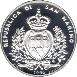 Monedă > 10000lire, 1996 - San Marino  (The Animal World in Danger) - obverse