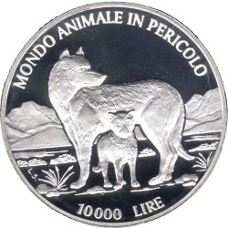 Monedă > 10000lire, 1996 - San Marino  (The Animal World in Danger) - reverse
